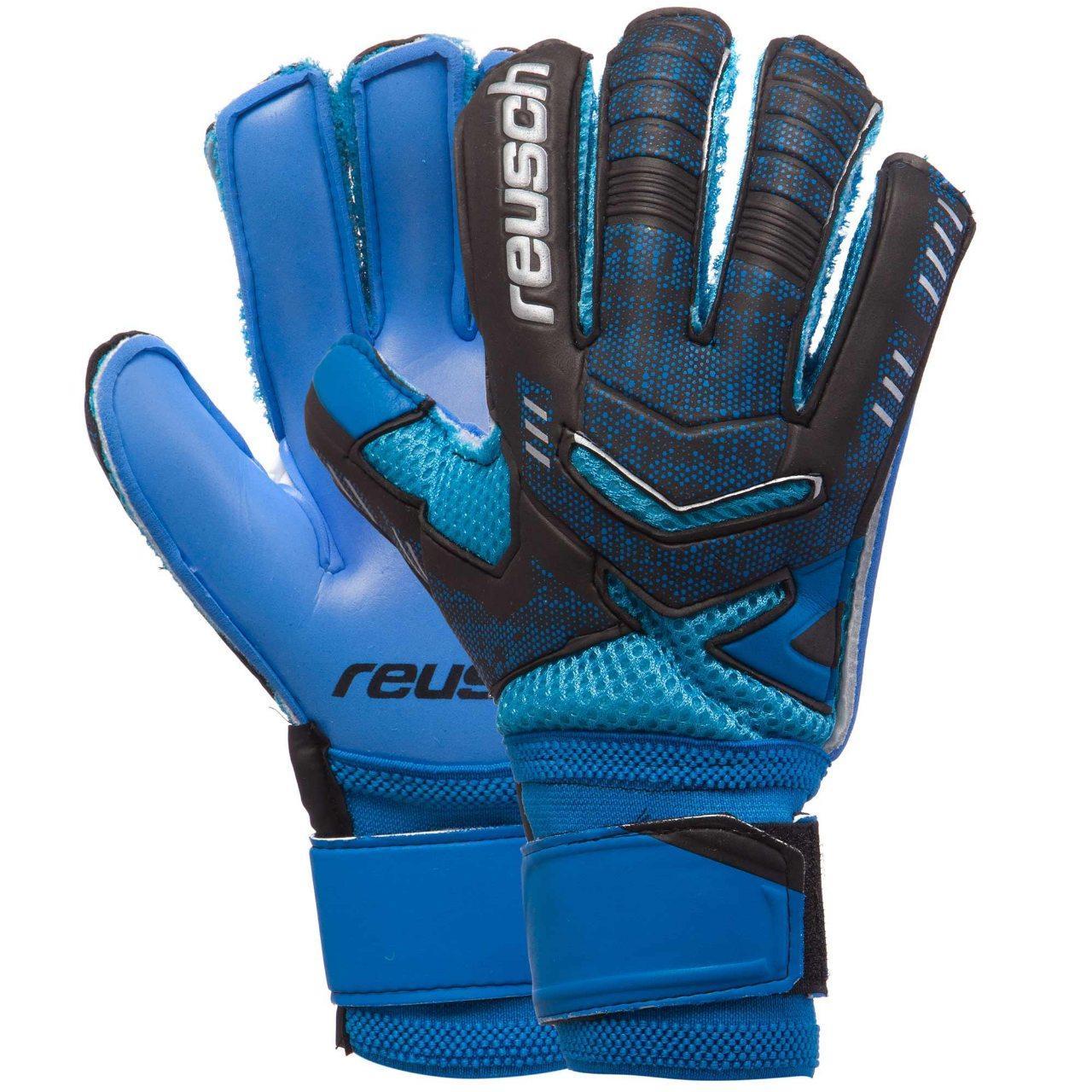 Детские вратарские перчатки Reusch replica черно-синие