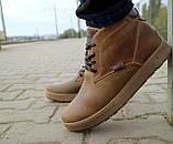 Мужские ботинки кожаные зимние оливковые Yuves 777, фото 7