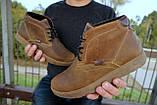 Мужские ботинки кожаные зимние оливковые Yuves 777, фото 9