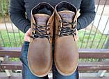 Мужские ботинки кожаные зимние оливковые Yuves 777, фото 10