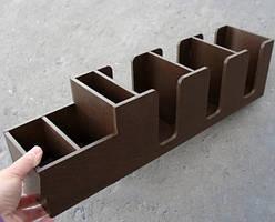 Барный органайзер Крышечки + (коричневый) EcoWood