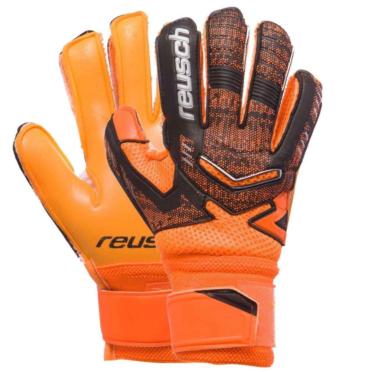 Детские вратарские перчатки Reusch replica оранжевые