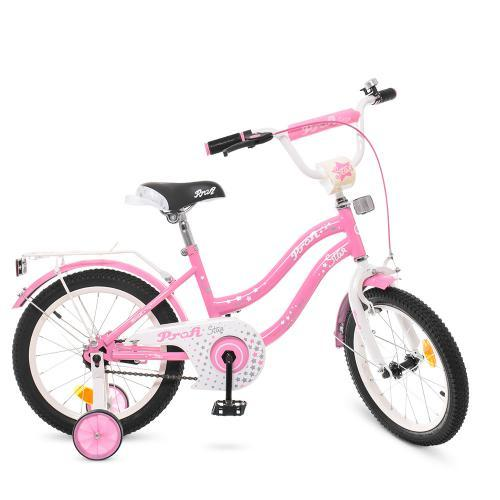 Велосипед PROF1 Star розовый Y1891 размер колеса 18 дюймов для девочки