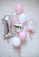 Набор из 11-ти шаров на первый день рождения девочке