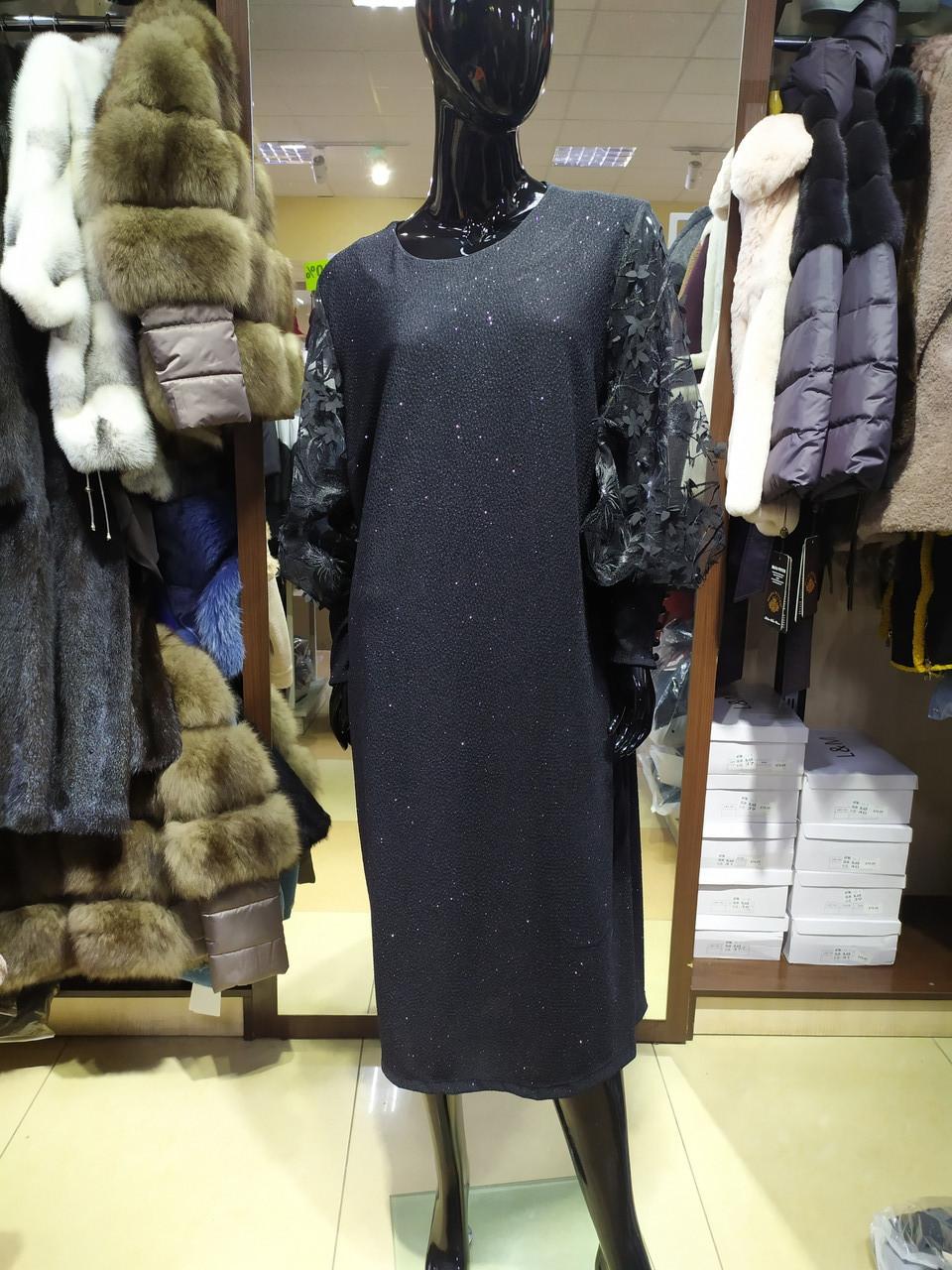 Нарядное женское платье GICCA с напылением, размер 44, 46, 48, 50