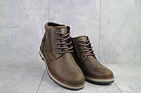 Мужские ботинки кожаные зимние коричневые-матовые Yuves 775, фото 1