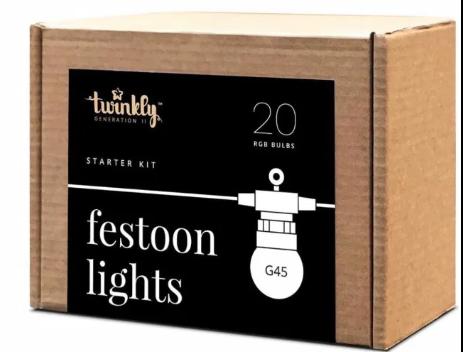 Smart-гирлянда Twinkly Festoon Lights Starter Kit (TWF-020-STP)