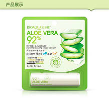 Бальзам для губ с экстрактом алое увлажняющий Aloe Vera Bioaqua, фото 2