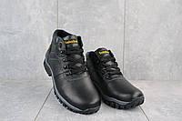 Мужские ботинки кожаные зимние черные Yuves 802, фото 1