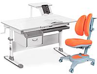 Комплект Evo-kids Evo-40 G Grey (арт. Evo-40 G + кресло Y-115 KY) /(стол+ящик+полка+кресло)/ белая столешница,