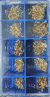 Набор крючков в коробке размер от 3 до 12 золот