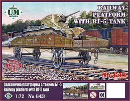 Железнодорожная платформа с танком БТ-5. 1/72 UMT 643