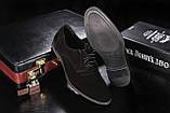 Мужские туфли замшевые весна/осень черные Vankristi 343, фото 2