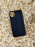"""Чехол """"Кожаное Плетение"""" для iPhone 11, Black"""