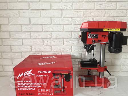 ✔️ Сверлильный станок MAX MXDP-16-1 . 1600W . + тиски, фото 2