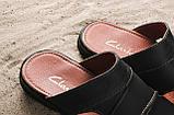Мужские шлепанцы кожаные летние синие Yuves 99, фото 3
