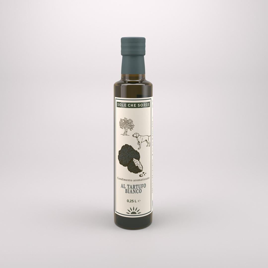 Заправка из Сицилийского оливкового масла Extra Vergine с белым трюфелем Sole che Sorge. 250 мл