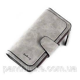 Гаманець жіночий клатч портмоне Baellerry Forever колір сірий
