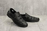 Мужские сандали кожаные летние черные Vankristi 1151, фото 1