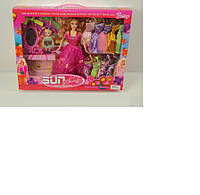 Кукла с куклой мини, с набором платьев, с аксессуарами, в кор.42*6,5*33см /24-2/ (198)