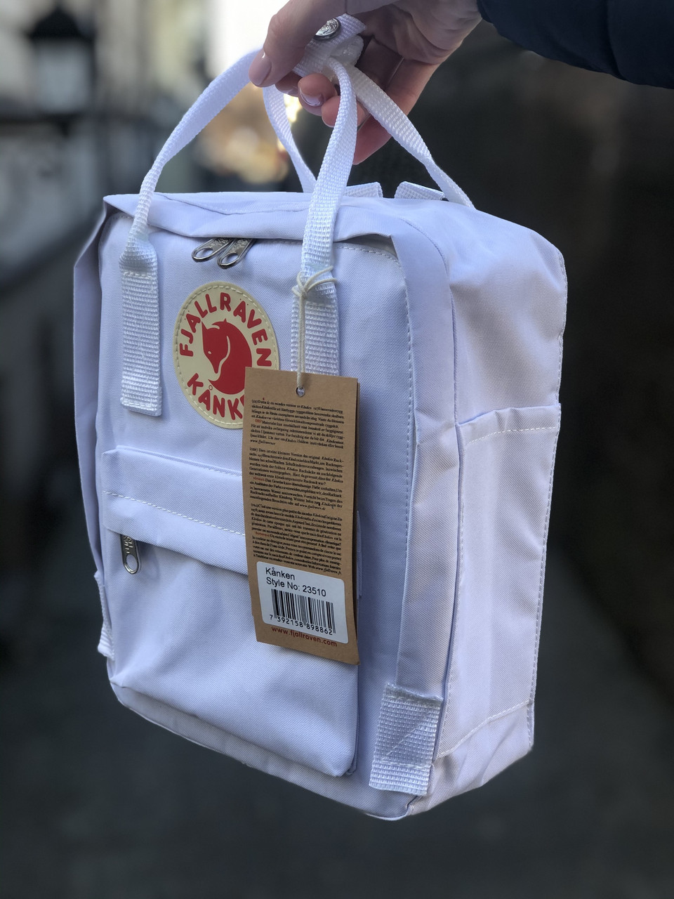 Рюкзак Fjallraven Kanken Mini White, 7л, Материал: Vinylon F 100%