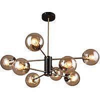Люстра в стиле лофт на 8 лампочек СветМира (черная + бронза) PM-4617/8