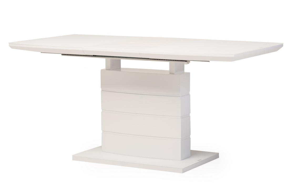 Стол раскладной TMM- 50-1 (120-160)*80*76(Н) матовый белый TM Vetro Mebel