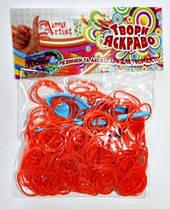 Резинки и аксессуары для творчества Арт.№5,стандарт оранжевый Little Artist
