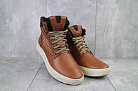 Мужские ботинки кожаные зимние рыжие Vitex 0205