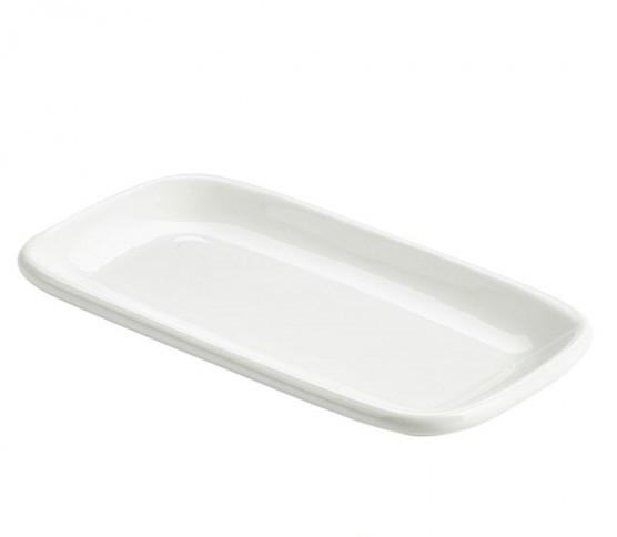 Тарелка прямоугольная, 19.5х10 см, с закругленными краями