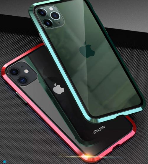 Магнитный металл чехол FULL GLASS 360° для iPhone 11 Pro /