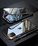 Магнитный металл чехол FULL GLASS 360° для iPhone 11 Pro /, фото 7