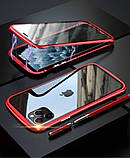 Магнитный металл чехол FULL GLASS 360° для iPhone 11 Pro /, фото 8