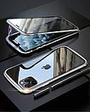 Магнитный металл чехол FULL GLASS 360° для iPhone 11 Pro /, фото 9