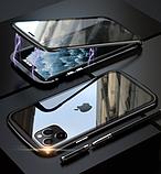 Магнитный металл чехол FULL GLASS 360° для iPhone 11 Pro /, фото 10