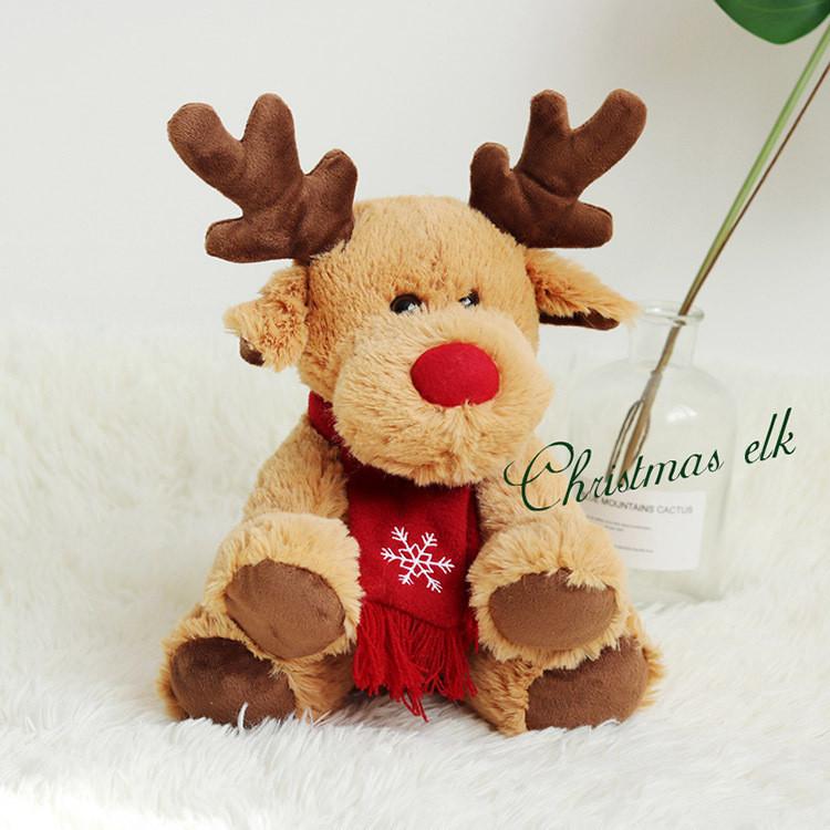 Олень Санта-Клауса Рудольф мягкая игрушка 30 см.