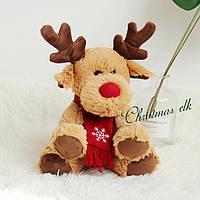 Олень Санта-Клауса Рудольф мягкая игрушка 30 см., фото 1