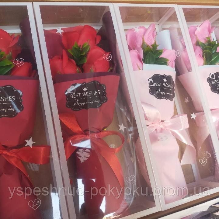 Букет роз из мыла ко Дню святого Валентина