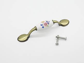Ручка металлическая декоративная. 126х20мм