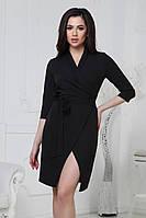 S, M, L / Коктейльне чорне плаття на запах