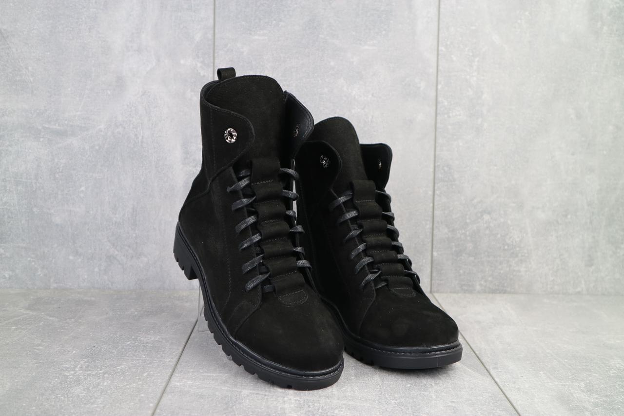 Женские ботинки кожаные зимние черные Vikont 7-2-32