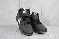 Мужские кроссовки кожаные зимние черные CrosSAV 317, фото 1