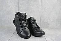 Мужские кроссовки кожаные зимние черные Yavgor 700, фото 1