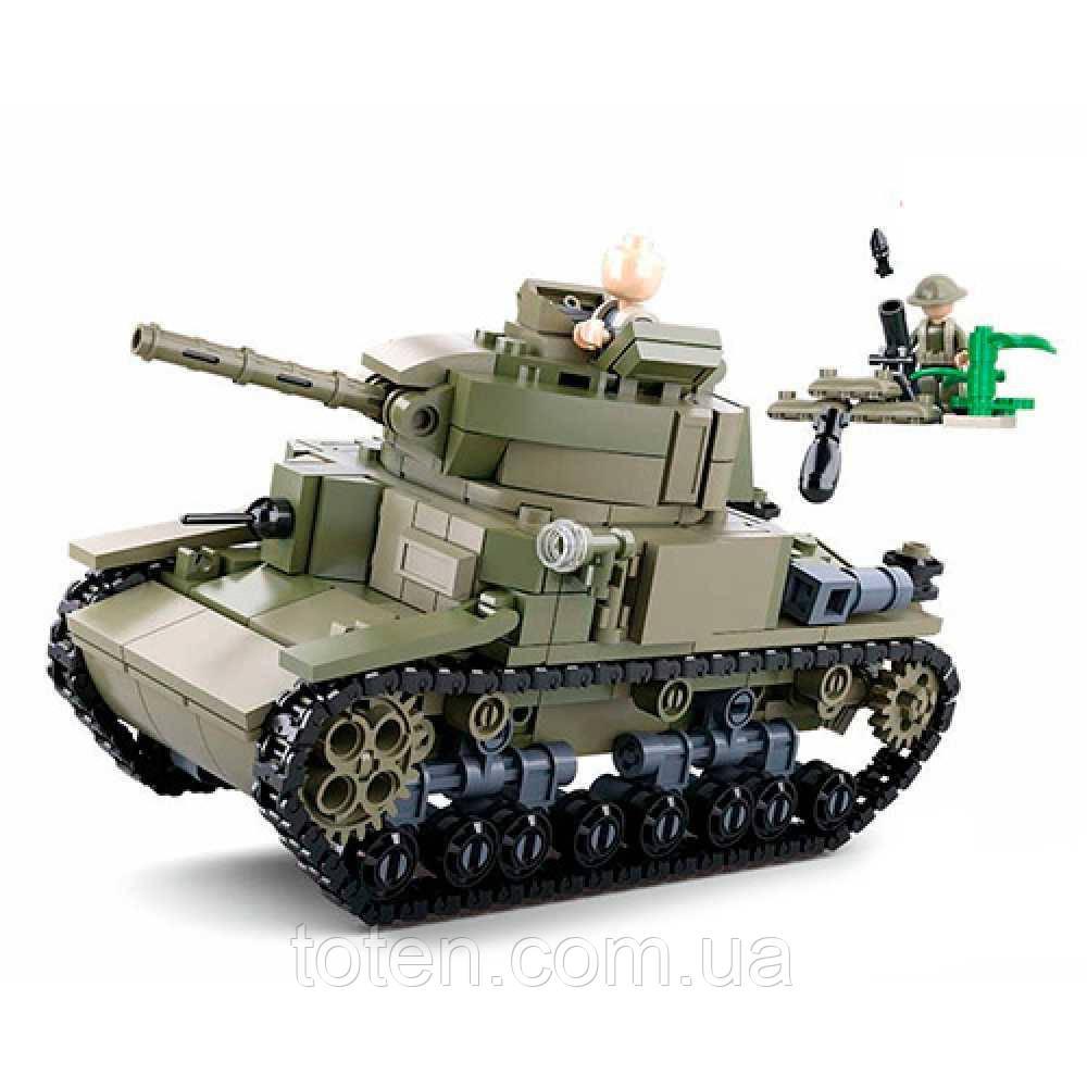 Конструктор SLUBAN M38-B0711 військовий, танк, фігурки, 463дет 10