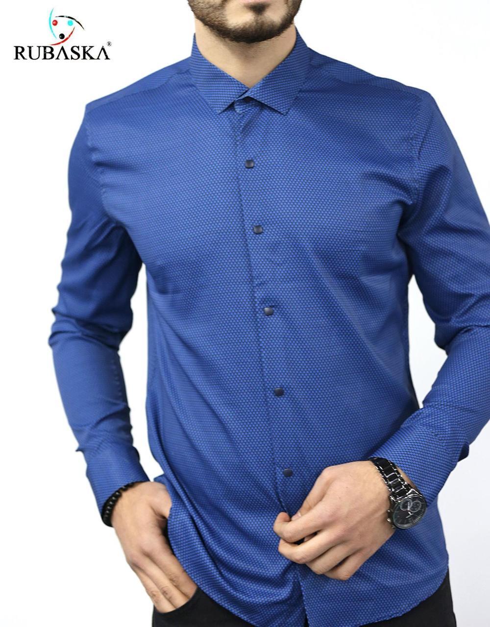 Турецкая мужская рубашка синяя