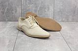 Мужские туфли кожаные летние белые Vankristi 343, фото 2