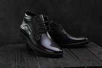Мужские ботинки кожаные зимние коричневые L-Style 3589, фото 1