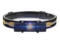 Налобный мощный фонарь Boruit D10 L2 фонарик + аккумулятор Panasonic 3400 Оригинал