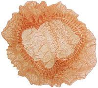 Шапочка одноразовая на двойной резинке оранжевая