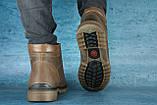 Чоловічі черевики шкіряні зимові оливкові Udg 741, фото 3